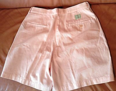 NWT Women Ralph Lauren 100% Cotton Classic Shorts Size 8 - Baby Pink