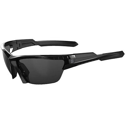 5.11 Tactical Cavu Half Frame Unisex Sunglasses - Gloss Black ~ Three Lenses