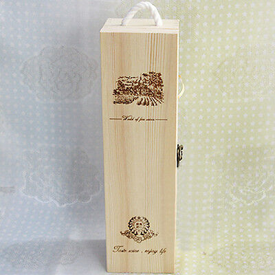 Engraved Personalised Wooden Wine Champagn Box Anniversary Engagement Visit gift
