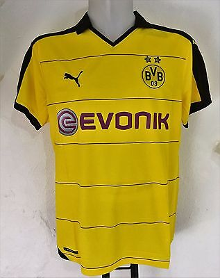 Borussia Dortmund 2015/16 S/s Home Shirt By Puma Size Adults Xl Brand New