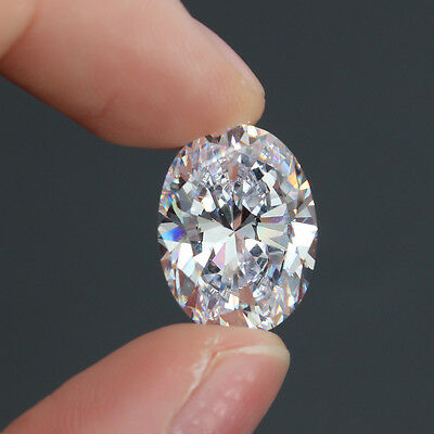 12×16mm Large Unheated 15.50ct Top white Sapphire Oval Cut AAAA+ Loose Gemstone