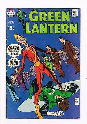Green Lantern # 70 A Funny Thing Happened On The Way To Earth grade 4.0 scarce !