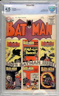 Batman # 100  Classic Anniversary Issue !  CBCS 4.5 scarce book !