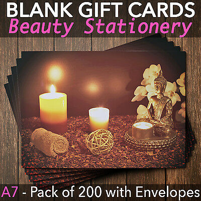 Gift Voucher Card Beauty/Massage/Nail and Spa Salons - x200 + envelopes BUD