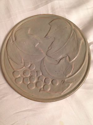 Van Briggle Early Experimental Art Pottery Plate with Grapes & Leaves Signed