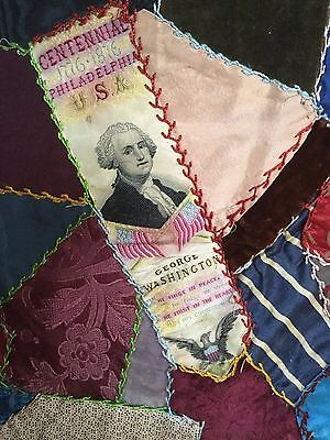 1876 Philadelphia Centennial George Washington Ribbon on Tacoma Mills Flour Sack