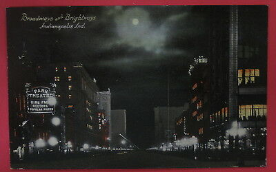 Antique Postcard-Broadways And Brightways-Indianapolis Indiana