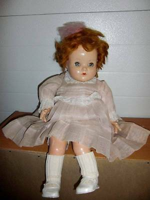 "Alexander ~ Vintage 1940's Composition Beautiful Red Head 23"" Doll"