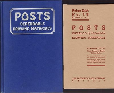 18th Edition Catalog of the Frederick Post Co. Dependable Drawing Materials VGC