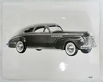 Original 8 By 10 Inch Factory Photograph Of 1941 Buick Automobile
