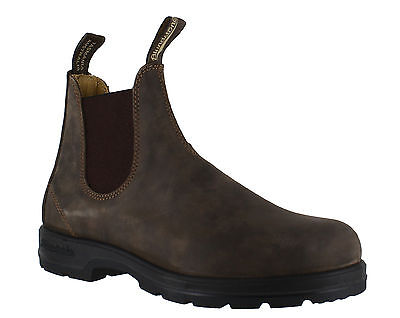 Blundstone 585 Booties Brown Leather Elastic Boots Shoes Boots From 36 To 46
