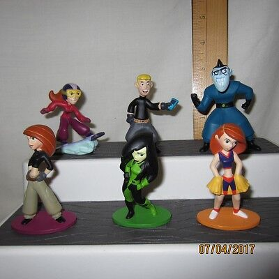 Lot Of 6 Kim Possible PVC Figures Disney Store Exclusive Ron Stoppable
