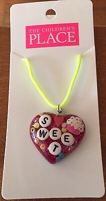 "Girls The Children's Place ""Sweet"" Charm Heart Necklace    ~NWT~"