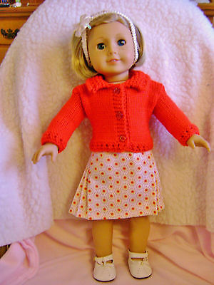 Doll clothes/ HANDMADE Skirt/Sweater Set/Fits American Girl Doll