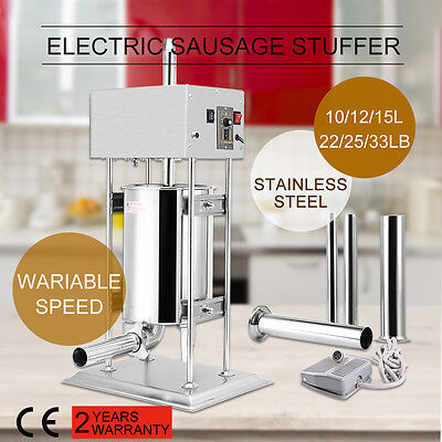 22/25/33LB Electric Sausage Filler Stuffer Sausage Salami Meat Maker Machine