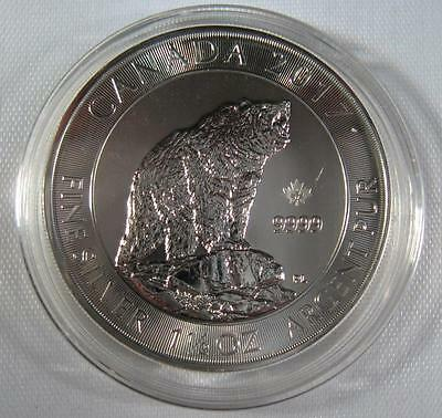 "2017 Canada .9999 Silver ""GRIZZLY"" 50% THICKER 1.5 OZ. $8 Coin Sealed - Gorgeous"