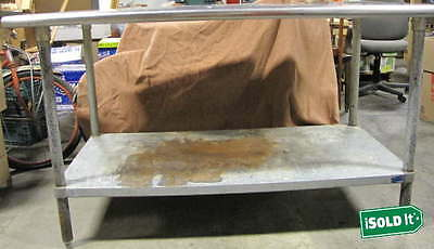 """TABCO 18-Gauge STAINLESS STEEL 30""""x60"""" COMMERCIAL WORK TABLE w/GALVANIZED LEGS"""