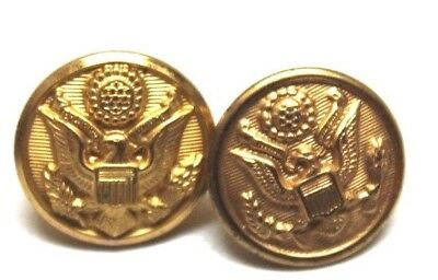 "US Army Brass Eagle hat cap Buttons for Garrison Cap 5/8""=16mm=24 L pair B4540"