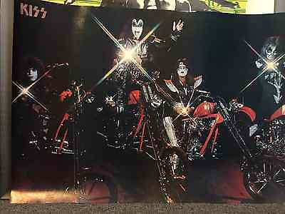 Kiss Motorcycle Chopper full size poster Gene Simmons Peter Criss Ace Frehley