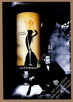 2000 Taittinger Champagne Grace Kelly and glass pic vintage print ad