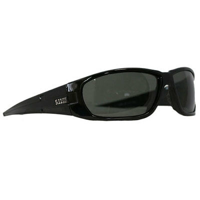 5.11 Tactical Climb Polarised Unisex Sunglasses - Gloss Black Frame ~ Smoke Lens