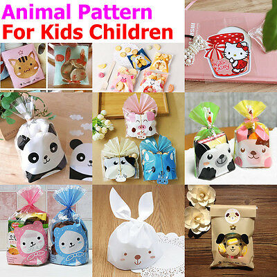 10-50X Cute Animal Kids Children Birthday Party Sweet Favour Biscuit Gift Bags