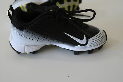 18ebd0a20ac4 -shoes Nike Vapor BSBL Boys Shoes Youth Baseball Cleats Black And White  Size 11C
