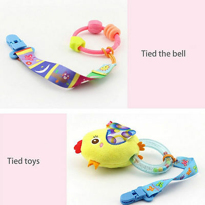UK New Baby Boy Girl Dummy Pacifier Soother Nipple Leash Strap Chain Clip Holder