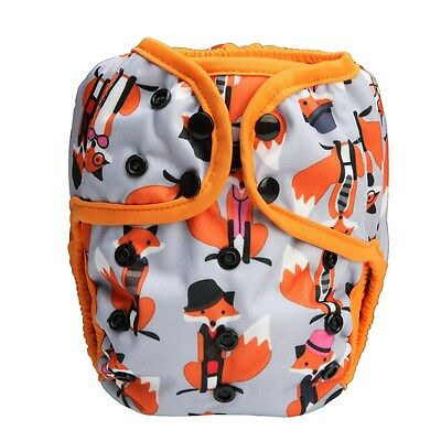 Baby Diaper Cover Nappy Cover Double Gussets Reusable One Size OS Fox for Boys