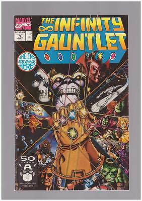 Infinity Gauntlet # 1  The End Begins Here !  grade 9.2  scarce book !