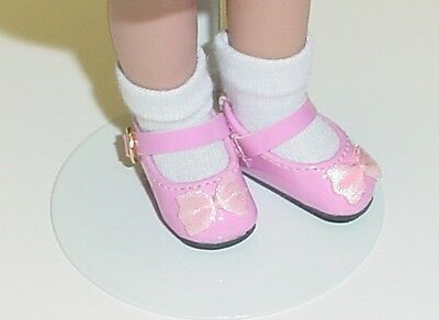 Doll Shoes Light Pink 80mm Patent Mary Janes fit Katie