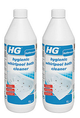 2 x HG Hygienic Whirlpool Cleaner 1 Litre Spa Bath Cleaner Approx 24 week supply