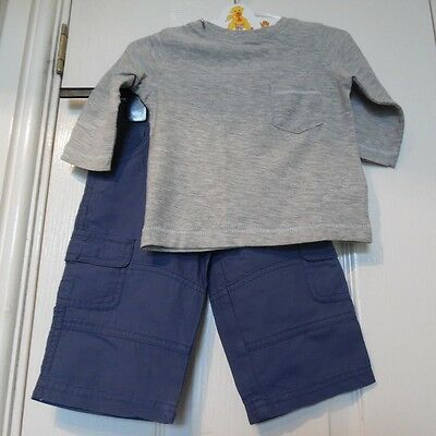 Baby Boy's Outfit Top (Next) Trousers (Mothercare) Age 3-6 Months