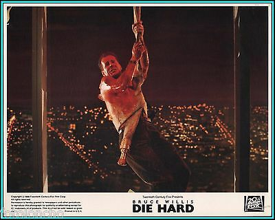 "BRUCE WILLIS in ""Die Hard"" - Original Vintage Lobby Card - 1988"