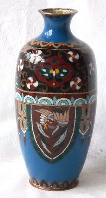 C19Th Japanese Cloisonne Vase Decorated With A Shield Pattern