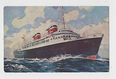 S.S. AMERICA United States Lines Postcard Ship Boat Unposted