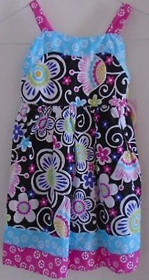 GIRL'S SPRING SUMMER DRESS Pink Purple Black Blue Floral Size 5 YOUNGLAND NWT
