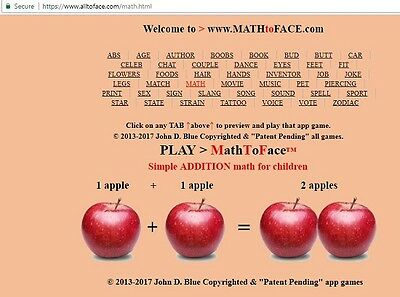MATH to FACE™ app is FOR SALE