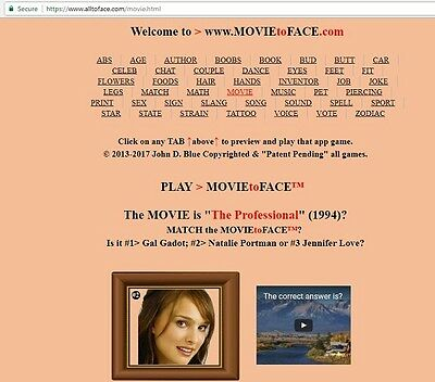 MOVIE to FACE™ app is FOR SALE