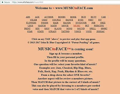 MUSIC to FACE™ app is FOR SALE