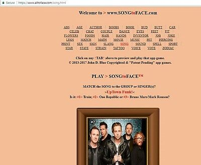 SONG to FACE™ app is FOR SALE