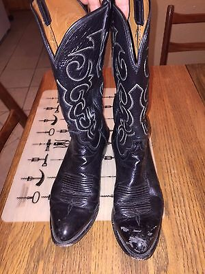 Luchesse Men's Black Leather Handmade in USA Classic Boots Size 9.5D