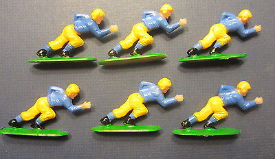 Lot of 6 Old Vintage c.1950's FOOTBALL PLAYER - Decoration Figures - Blue Yellow