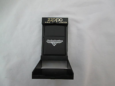New Zippo Harley Davidson Cafe Black Matte Lighter Sealed in Original Case