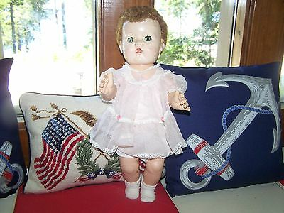 "Vintage 20"" Marked A.c. Rubber Body Tiny Tears Baby Doll"
