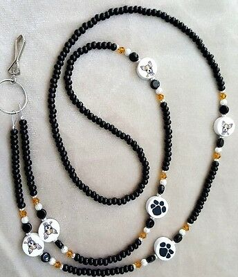 !! Chihuahua DOG RESCUE Lover ID BADGE HOLDER LANYARD !!!!
