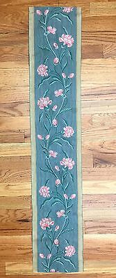 Antique 19th Century French Silk  Woven Border ( 2042 )