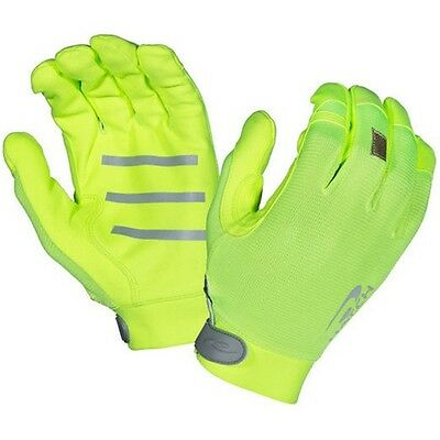 Hatch TSK331Y Men's Hi Viz Yellow Synthetic Suede Gloves Large