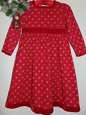Laura Ashley vintage Mother & Child cotton-cord & velvet country chic dress, 5ys