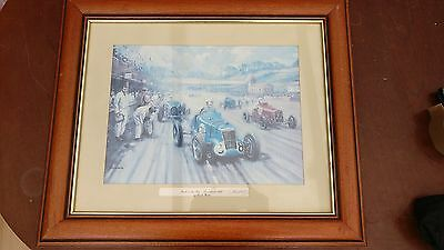 """Personally Signed Art Print by 'Kevin Walsh' Back In The Race - Brooklands 1935"""""""
